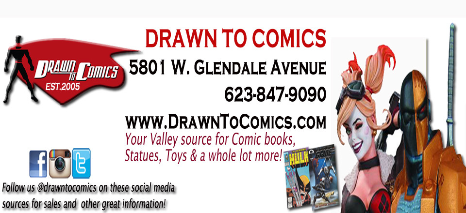 Comics Never Stop web-site banner ad