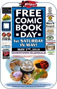 free comic book day food crawl